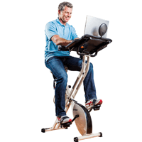 FitDesk Exercise Bike with Massage Bar