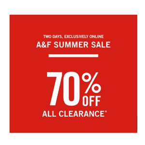 Abercrombie & Fitch Summer Sale