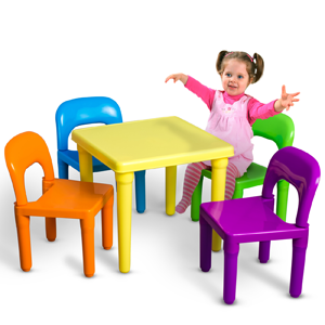 OxGord Kids Table And Chairs Play Set
