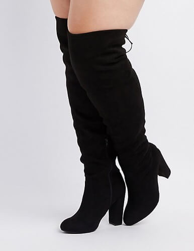 tie-over-knee-boots